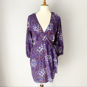 Parker Leopard Print Silk Wrap Dress